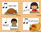 Composition Starter & Rhythm Practice Cards - Thanksgiving