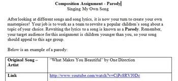 Composition Summative - Parody