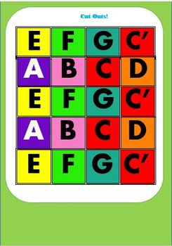 Composition Worksheet and Colourful Note Manipulatives