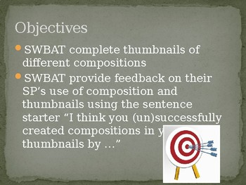 Composition and Thumbnails Powerpoint