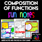 Composition and Operations on Functions FUN Notes Doodle Pages plus Practice