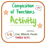 Composition of Functions:  Cut and Paste Algebra Activity,