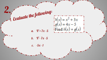 Composition of Functions: Digital Task Cards