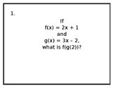 Composition of Functions Stations (Multiple Representations)