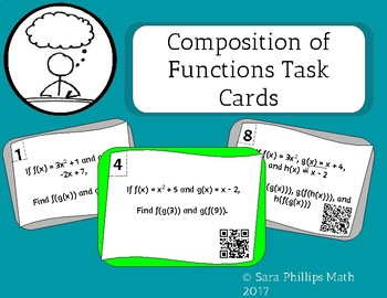 Composition of Functions Task Cards