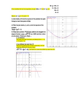 Composition of Functions Worksheet with Answer Key (Editable)