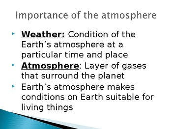 Composition of the Atmosphere PowerPoint