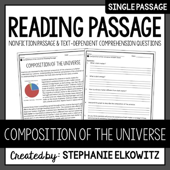 Composition of the Universe Reading Passage