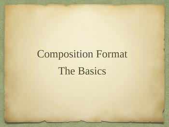 Composition/Writing Style Basics