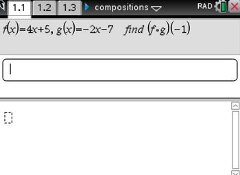 Compositions of Functions - Nspire File
