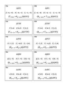 Compositions of Transformations Carousel Activity