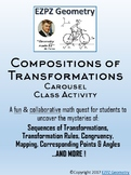 Compositions of Transformations Carousel Class Activity