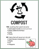 Compost Sign (sized to stick ON compost container)
