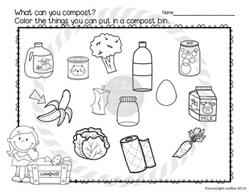 Composting Emergent Reader and Activities