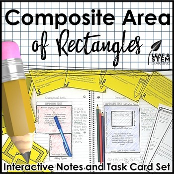 Compound Area Interactive Math Notebook And Task Cards