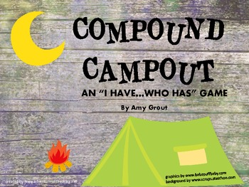 """Compound Campout: An """"I Have, Who Has"""" game for Compound Words"""