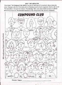 Compound Club Science Coloring Activity