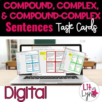 Digital compound complex compound complex sentence task cards tpt digital compound complex compound complex sentence task cards fandeluxe Images