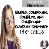 Compound, Complex, & Compound-Complex Sentences Task Cards