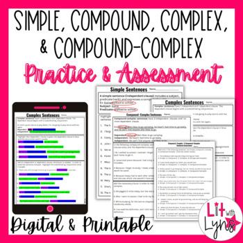 Compound, Complex, & Compound Complex Sentences