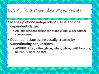 Compound Complex Sentence Presentation