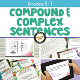 Compound and Complex Sentences Task Cards Spring