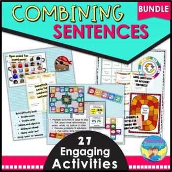 Combining Sentences Activities and Games Bundle