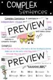 Compound & Complex Sentences *SPONGEBOB Themed* (Student N
