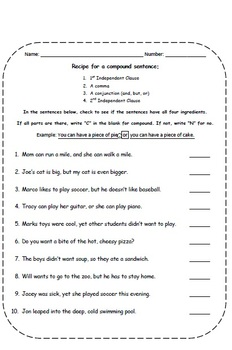 Compound Complex Sentences - Unit Lesson Plans