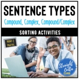 Compound, Complex, and Compound/Complex Sentence Sort Activity