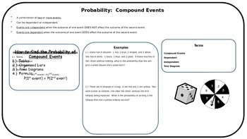 Compound Events Probability Poster