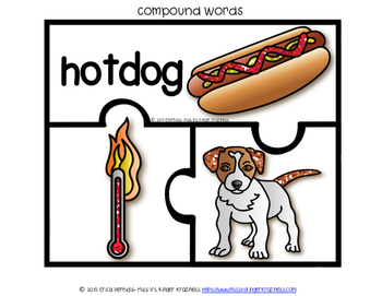 Compound & Homophone Word Puzzles (Glitter Version)