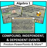 Compound, Independent, & Dependent Events in a PowerPoint Presentation