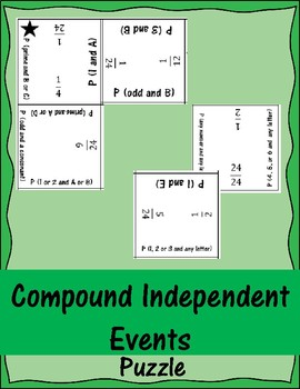 Compound Independent Events Puzzle