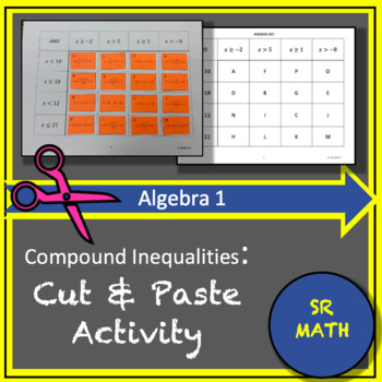 """Compound Inequalities """"AND"""" Cut and Paste Activity"""