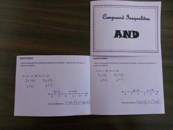 Compound Inequalities Foldable