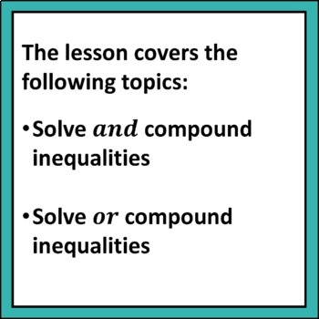 Compound Inequalities Lesson