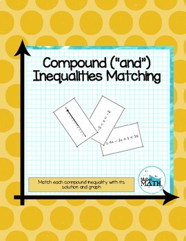 Compound Inequalities Matching