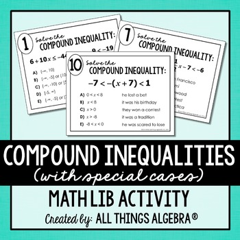 Compound Inequalities Math Lib