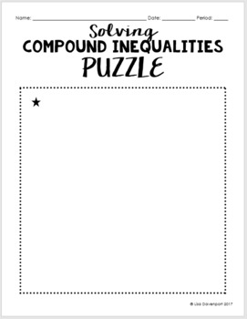Compound Inequalities (Mini Puzzle)