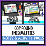 Compound Inequalities Note and Activity Bundle for Google Slides™