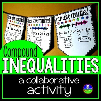 Compound Inequalities Math Pennant Activity