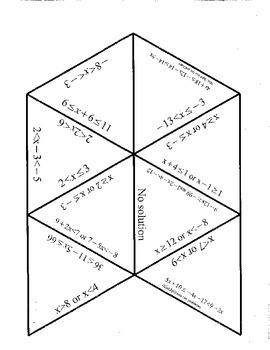 Compound Inequalities Puzzle (Tarsia)