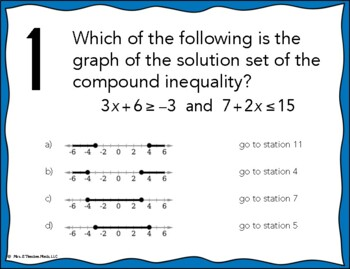 Compound Inequalities Stations Maze