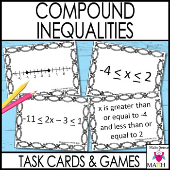 Compound Inequalities Activities & Worksheets | Teachers Pay ...