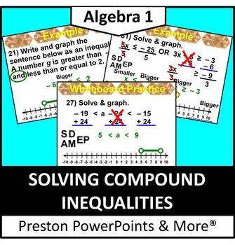 (Alg 1) Solving Compound Inequalities in a PowerPoint Presentation