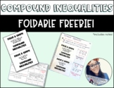 Compound Inequality Foldable *FREEBIE*