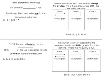 Compound Inequality Foldable *FREEBIE*