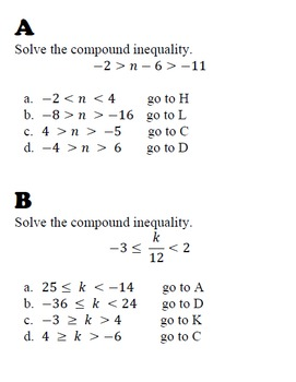 Compound Inequality Review