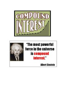 Compound Interest: Lesson plan with worksheet and slides